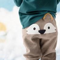 小狐狸造型長褲