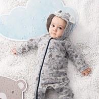 溫馨小熊長袖兔裝