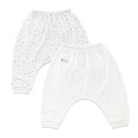 海洋小熊印花造型嬰兒褲-2入(水晶紗)