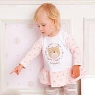 粉色小熊上衣