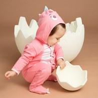 小恐龍造型連帽兔裝