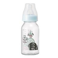 【標準口徑】耐熱硼矽玻璃奶瓶120ml-貓頭鷹