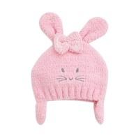 粉紅聖誕毛線帽
