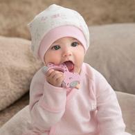 粉色愛心兔帽子