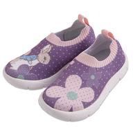 比得兔高彈性數位針織童鞋-紫