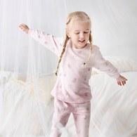 童話比得側開套裝(三段天絲棉布)