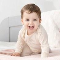 功能布嬰兒長褲(超細蜜粉極暖布)