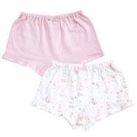 粉色愛心兔女平口褲-2入(鋅纖維)