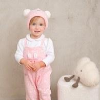 粉紅聖誕印花兔裝