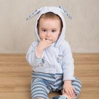 迷彩兔舖棉連帽兔裝
