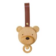 木製熊頭音樂拉鈴