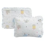 動物派對六層紗嬰兒枕(附替換枕套)
