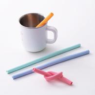 環保可拆洗矽膠吸管/環保吸管4入組