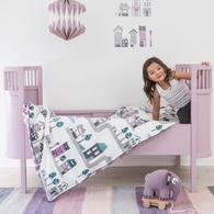 粉彩世界可調嬰兒床-粉色